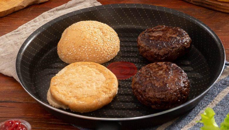 Hambúrguer caseiro tradicional