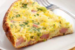 Omelete de presunto e queijo (fritada)