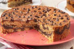 Torta cookie com brigadeiro