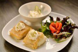 Bacalhau da Noruega com maionese de limão e gengibre