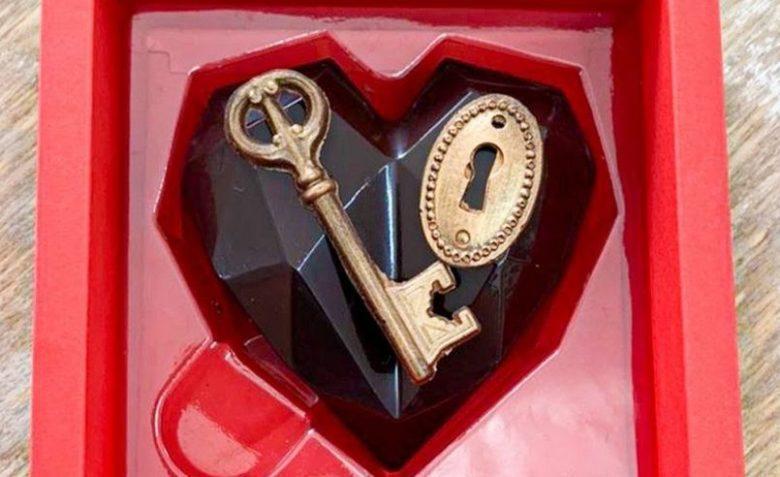 Coração de chocolate especial