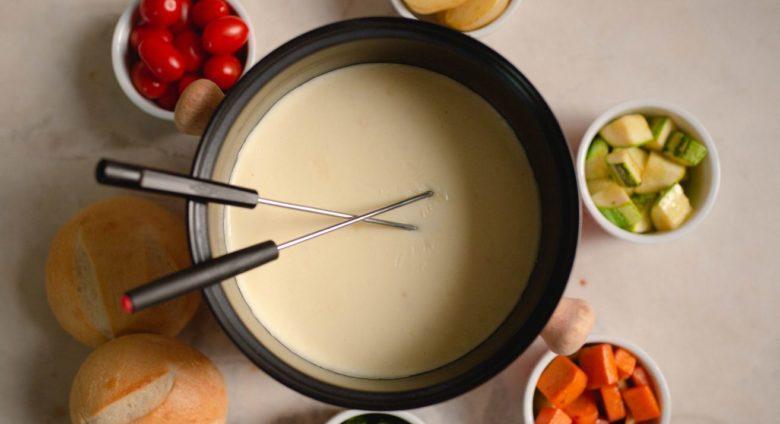 Fondue imperfeito de queijo