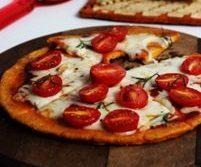 Pizza com massa de cenoura