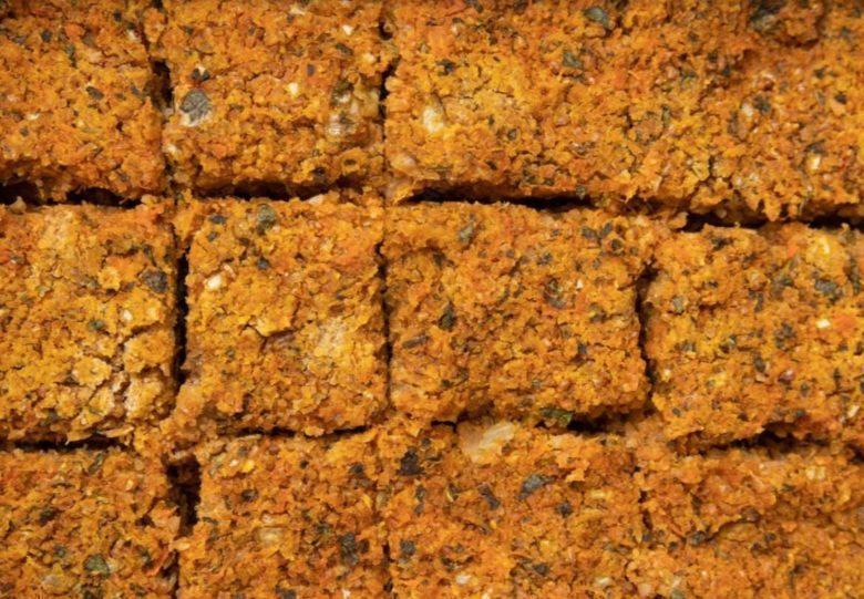 Quibe de quinoa , abóbora cabotian e proteína de soja