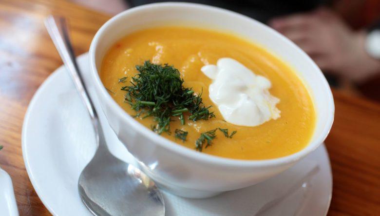 Sopa de purê de abóbora