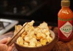 Tempurá de camarão temperado com maionese