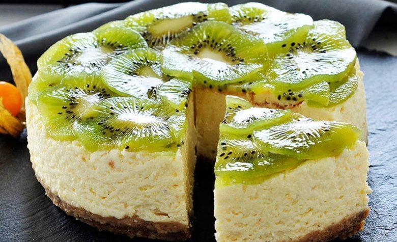 Cheesecake especial de kiwi