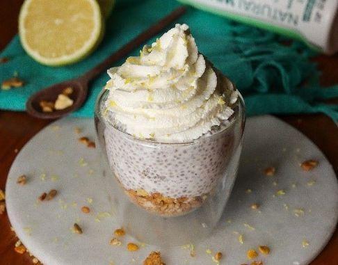 Chia pudding torta de limão