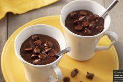 Chocolate quente crocante