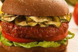 Hambúrguer de Sadia Veg&Tal com crispy de abobrinha e molho de ervas