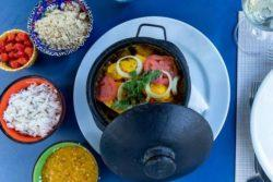 Moqueca especial com peixe e camarão