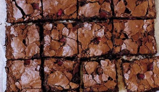 Brownie com framboesa