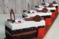 Fatias dueto de chocolate