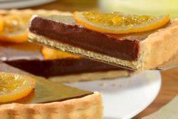 Torta especial de chocolate e laranja