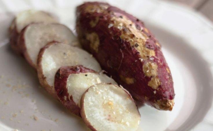 Batata doce assada com cebola