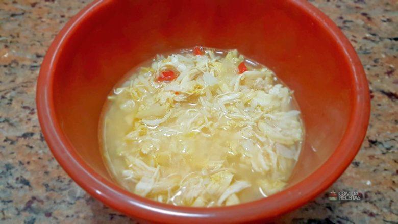 Canja de galinha com arroz