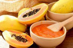 Mousse de mamão e laranja