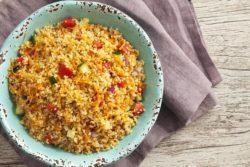 Salada de cuscuz marroquino ao molho shoyu