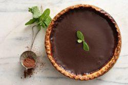 Torta de chocolate e cachaça