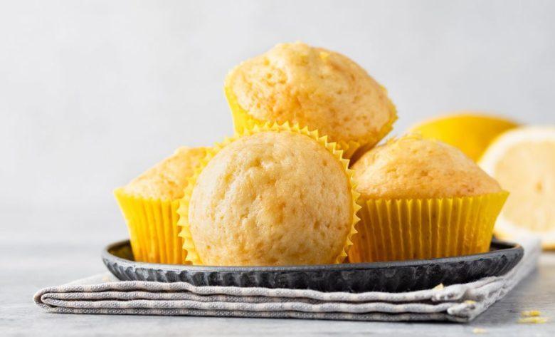 Cupcake de baunilha e limão