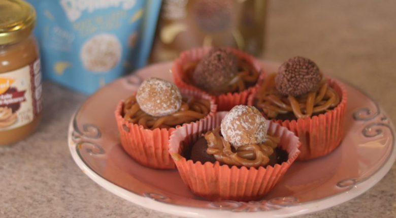 Cupcake com farinha de aveia