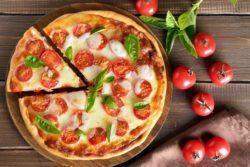 Pizza de carne proteica